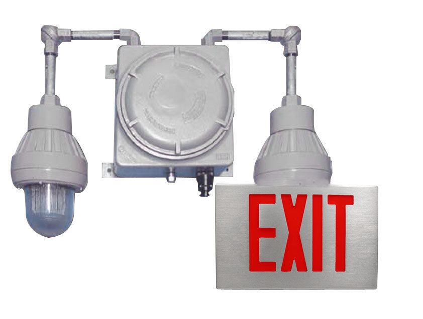Exc T1 Exit Sign With Lights Hazardous Elc Emergency