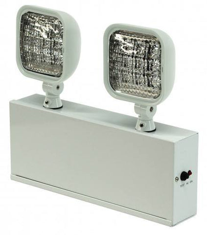 Emergency Light - Steel - 2 Sq. LED Heads - Remote Capable