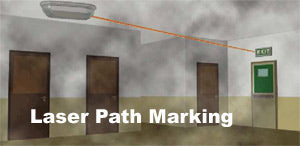 Laser Path Marking for Emergency Light