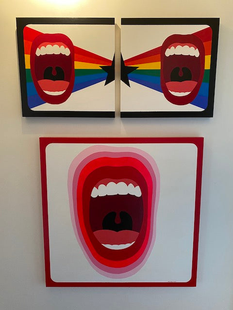 Scream paintings by Quincy Raby