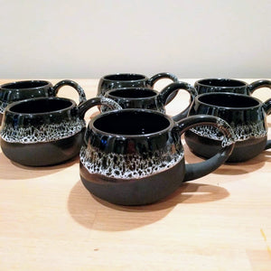 Commission: Black and White Mugs