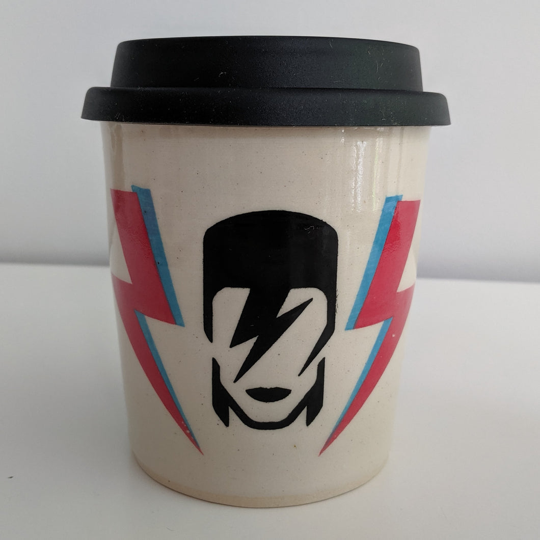 Bowie Travel Mug in White Clay