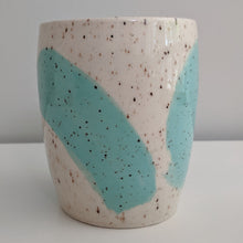Load image into Gallery viewer, Turquoise Swoosh Speckled Tumbler