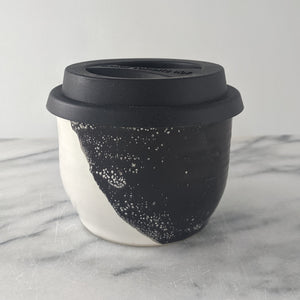 Bruce Black & White Espresso Travel Mug