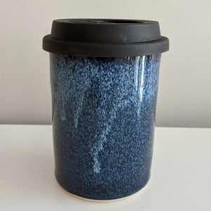 Blue over Black Travel Mug
