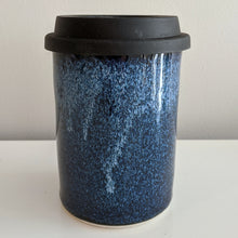 Load image into Gallery viewer, Blue over Black Travel Mug