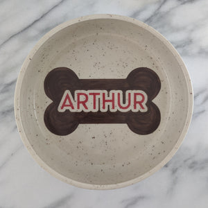 Large Personalized Dog Bowl