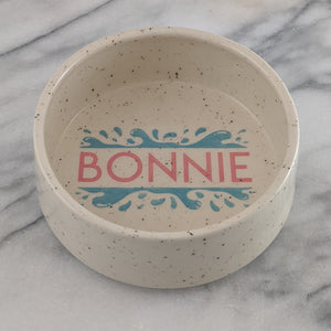 Personalized Water Bowl for Dogs or Cats