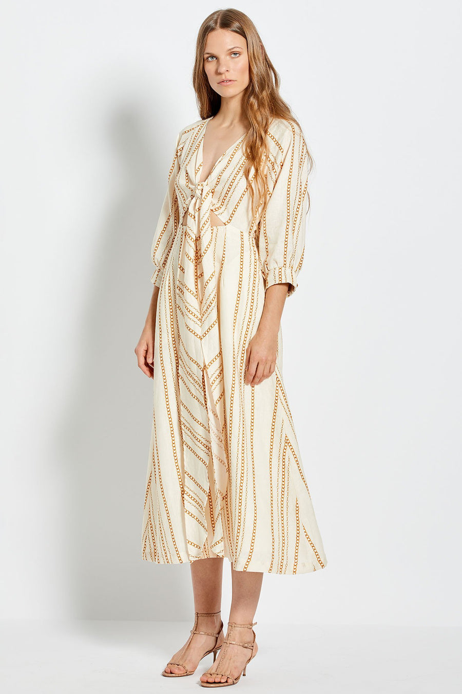 Asilah Dress - Vintage Chain - Ivory
