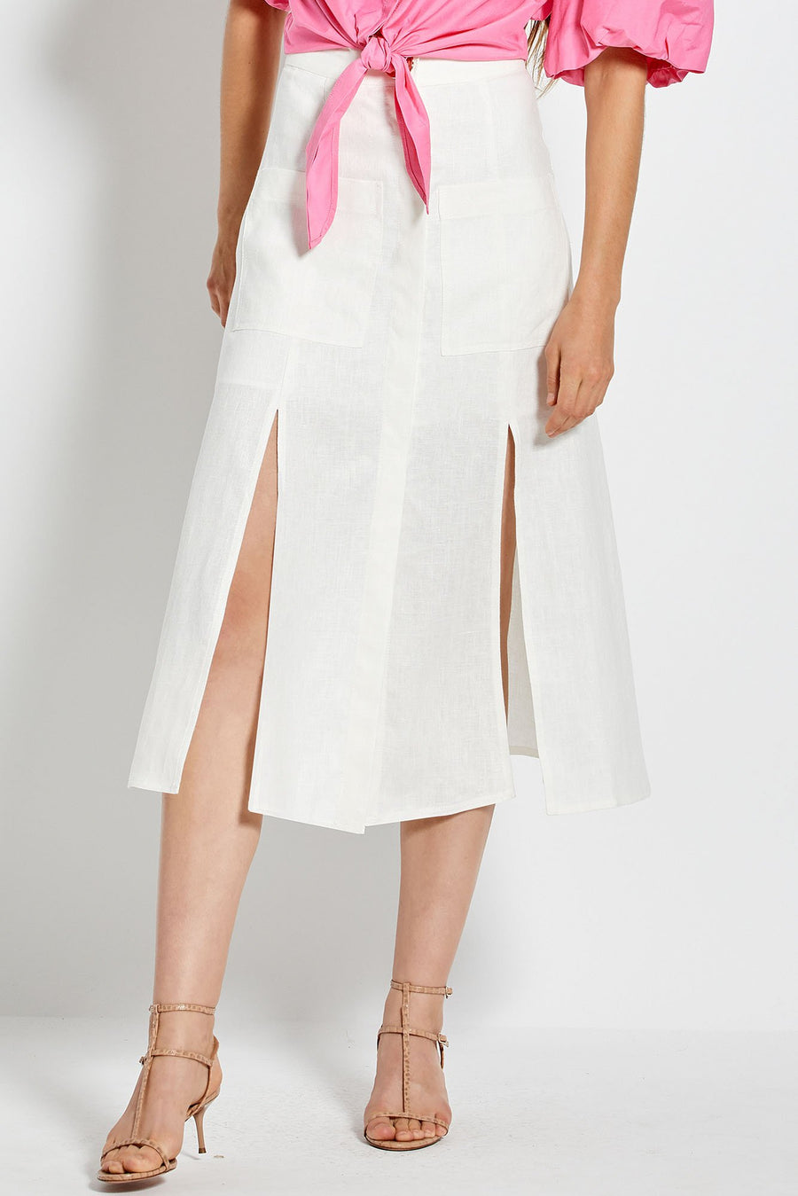 Masala Skirt - White