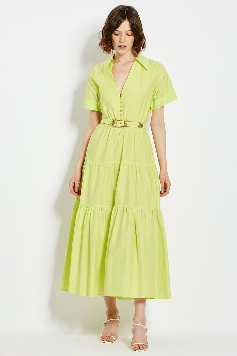 Amina Dress - Sulfur