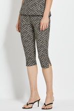 Cleo Pant - Black Ikat Diamond