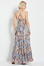 Ellie Dress - Mocha Etched Floral