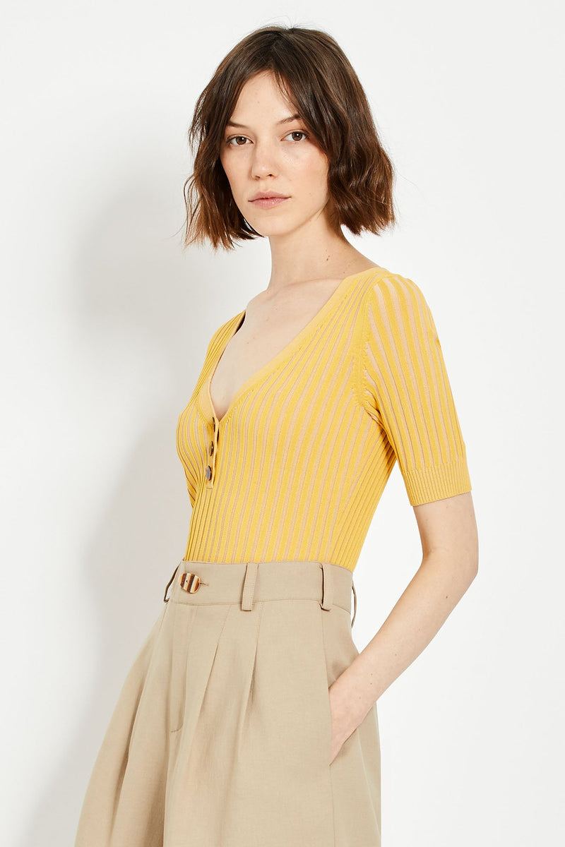 Epices Knit Top - Soleil/Adobe