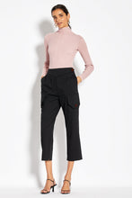 Metallic Rib Turtleneck - Blush Multi