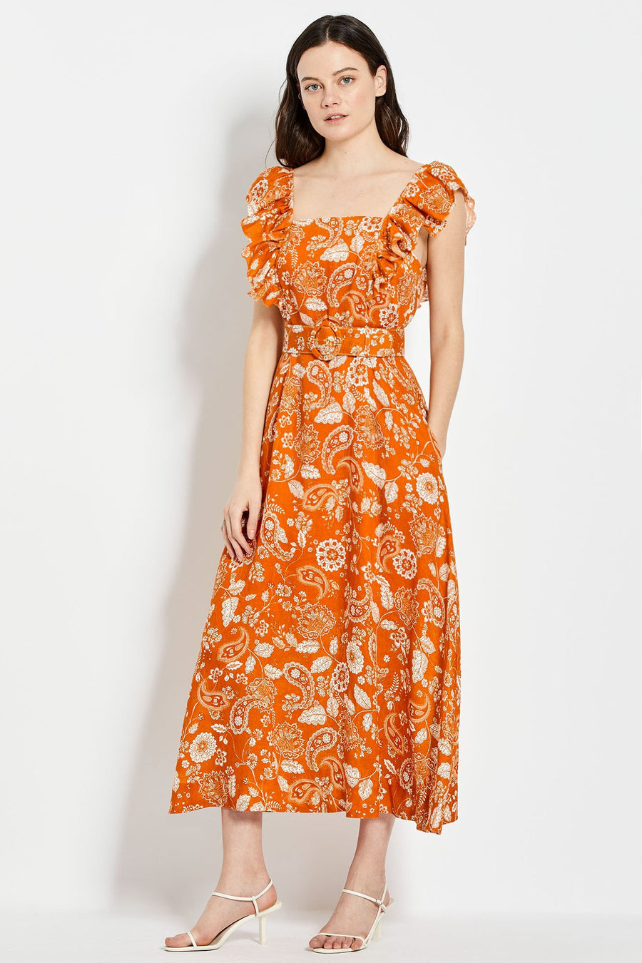 Kelly Dress - Sketch 60's Tonal Paisley