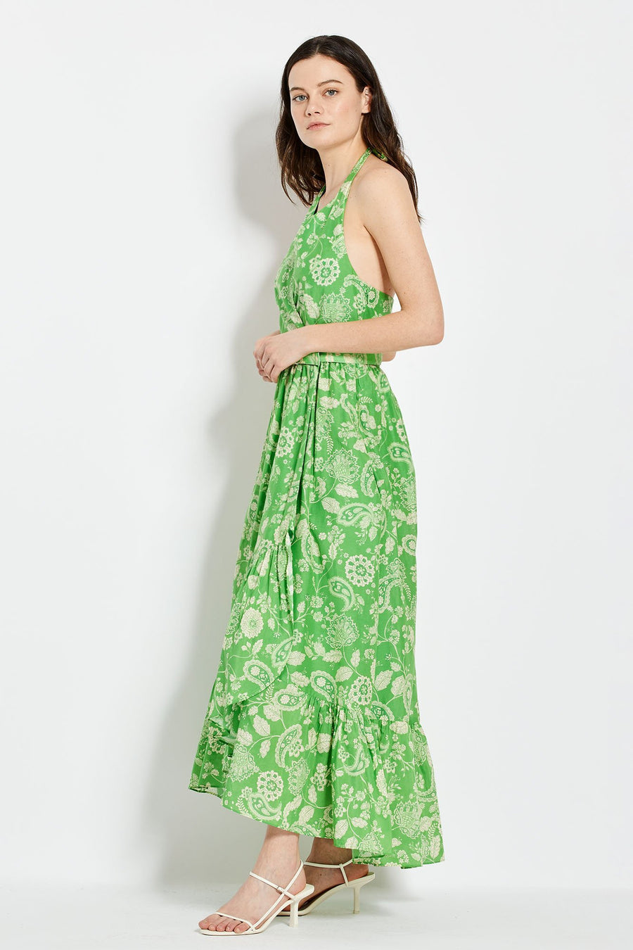 Patricia Dress - Leaf 60's Tonal Paisley