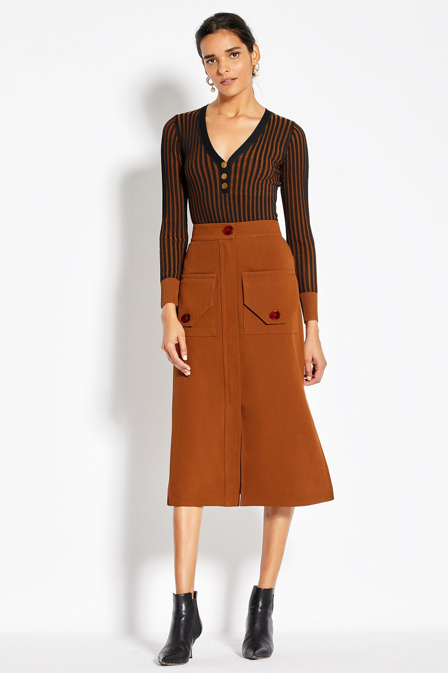 Cargo Skirt - Walnut