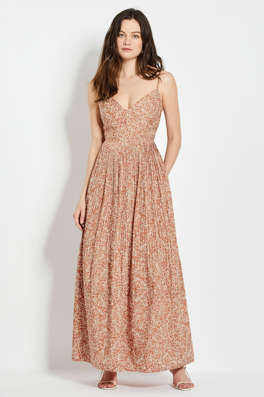 Susan Dress - Mocha Thyme Print