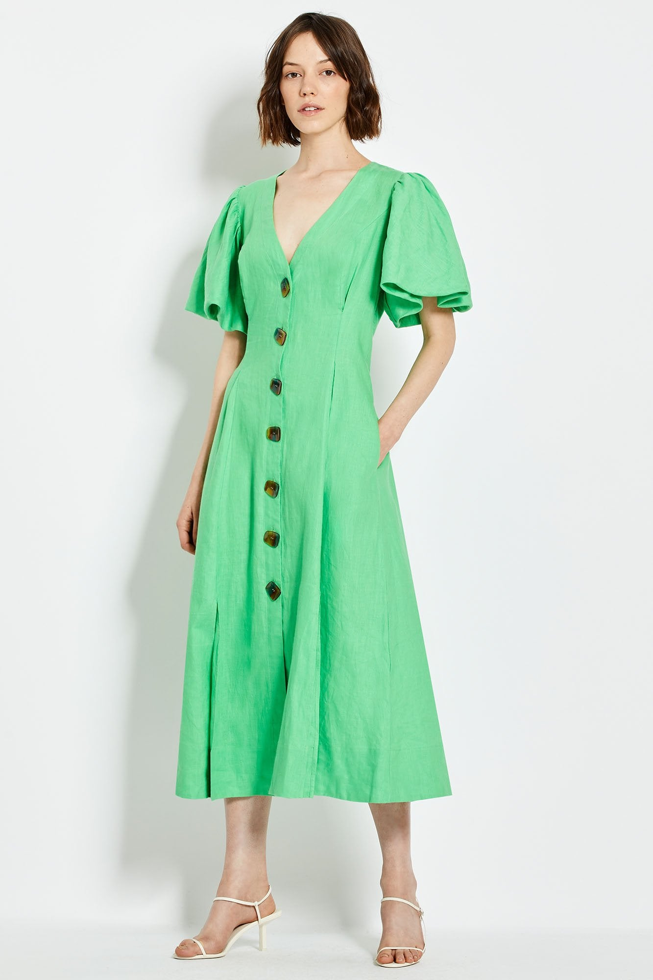 Troy Dress - Leaf