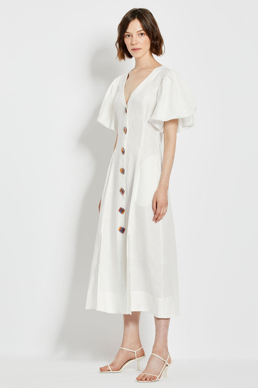 Troy Dress - White