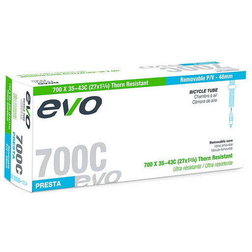 EVO, Thorn Resistant/Removable Core, Inner tube, PV, 48mm, 700x35-43C