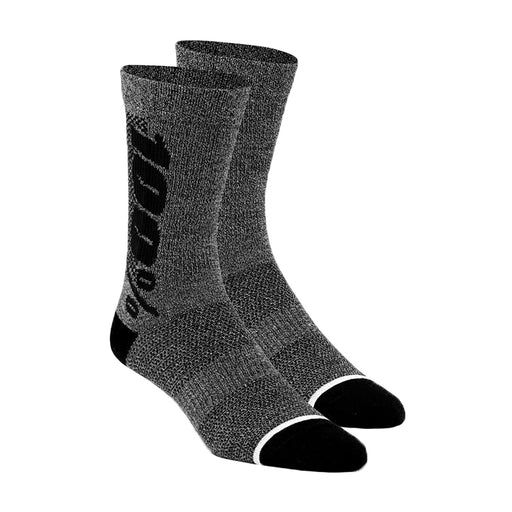 100% Rythym Merino socks, charcoal heather - L/XL