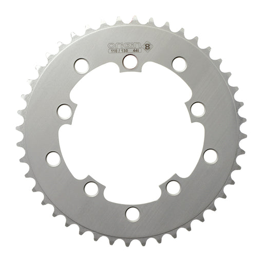 ORIGIN8 Single Speed 110mm/130mm 5-bolt 44T Silver Chainring