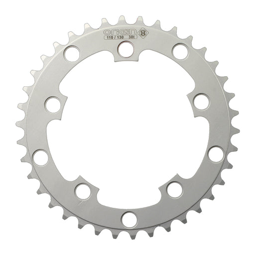 ORIGIN8 Single Speed 110mm/130mm 5-bolt 38T Silver Chainring