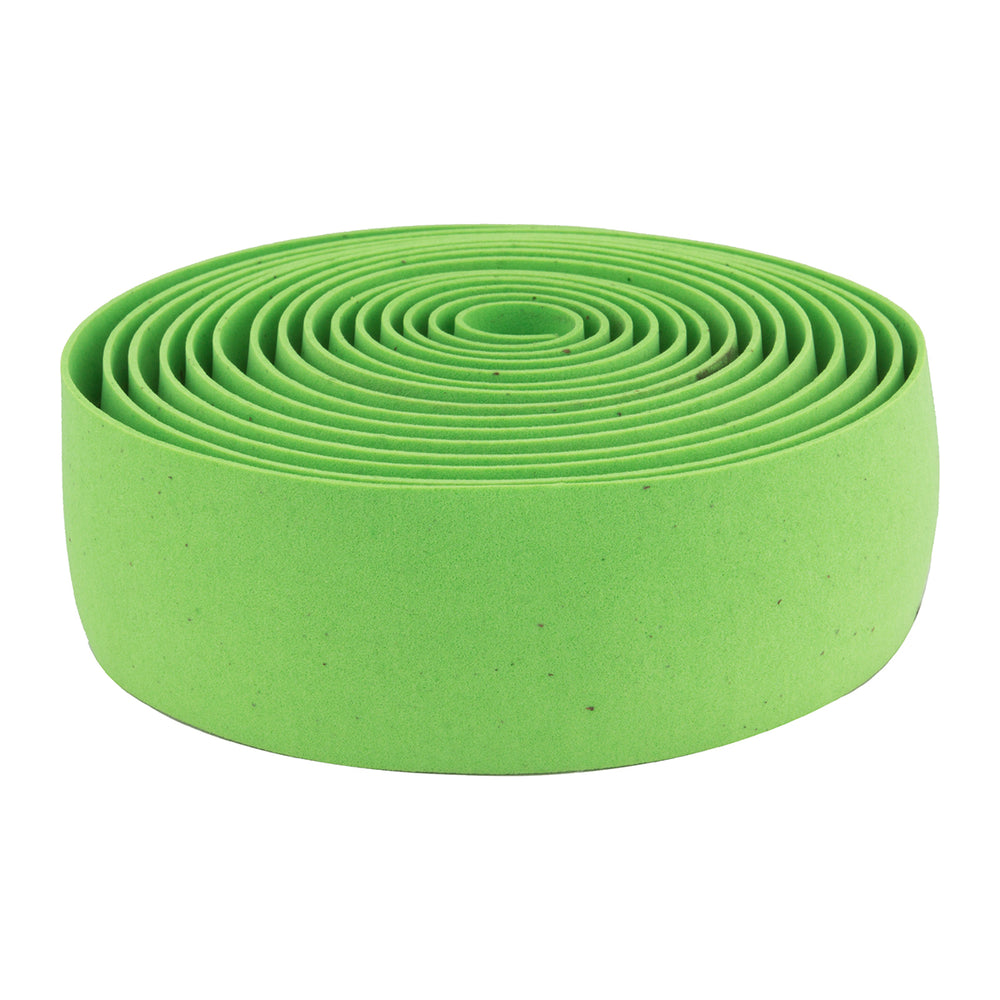 ORIGIN8 Pro Cork Handlebar Tape Lime Green