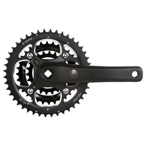 Eclypse, MT8, Crankset, 7/8 sp., 175mm, 22/32/44T, BCD:104/64mm, Square, Black