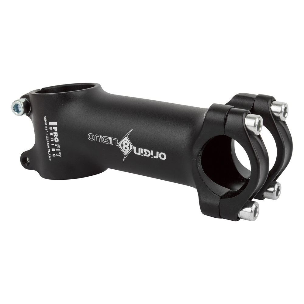 ORIGIN8 Pro Fit Alloy Ergo Bike Stem 90mm Length +/-8° Rise 25.4mm Handlebar