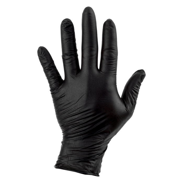 SUNLITE Mechanics Nitrile Gloves Black Large Box of 100