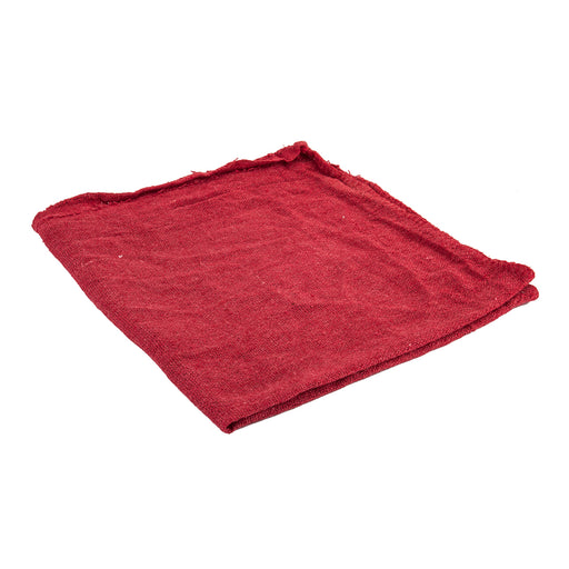 "SUNLITE Red Shop Towels 14"" Square - Pack of 50"