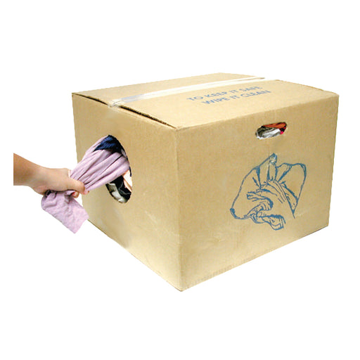 SUNLITE 25 pound Economy Box of Colored Knit Shop Rags