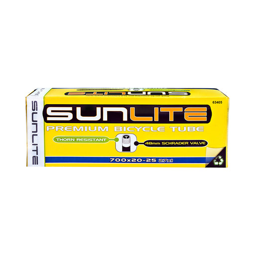 SUNLITE Thorn Resistant Schrader Valve 700x20-25 (27x1) Tube 48mm Smooth