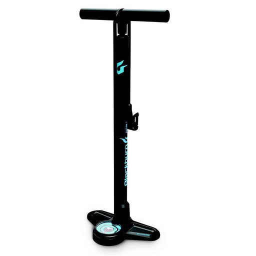 Blackburn, Piston 2, Floor pump, Matte Black/Cyan