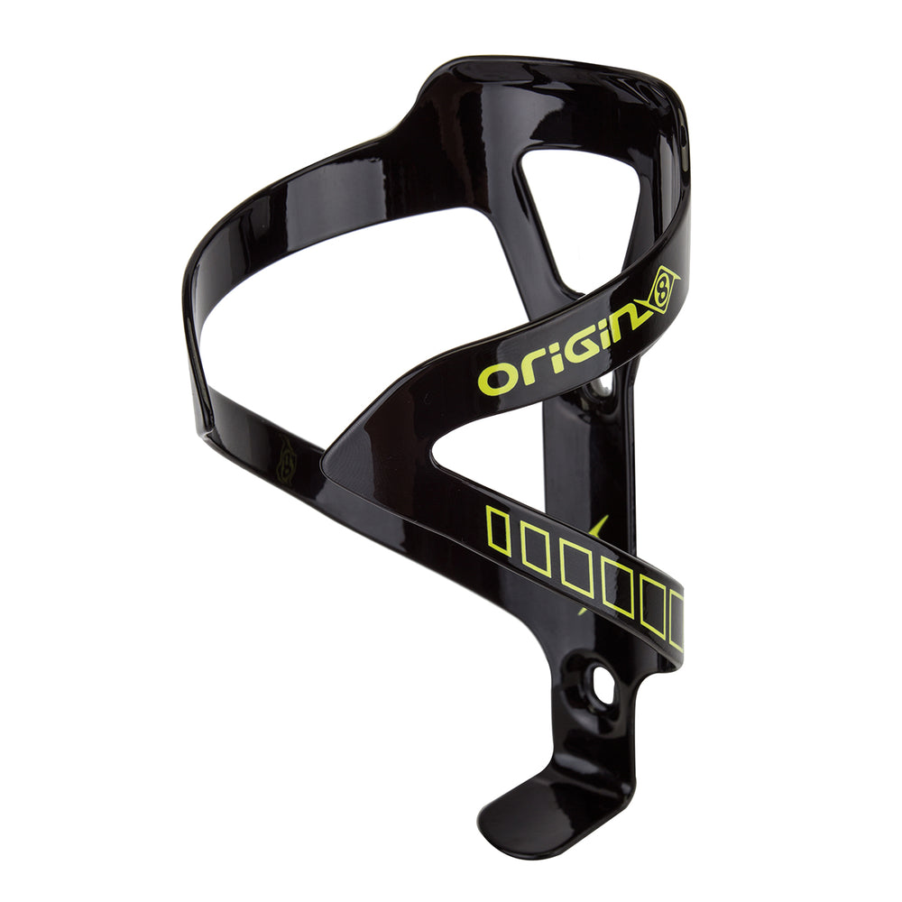 ORIGIN8 Alloy Klutch Cage Standard Alloy Black/Yellow Water Bottle Cage