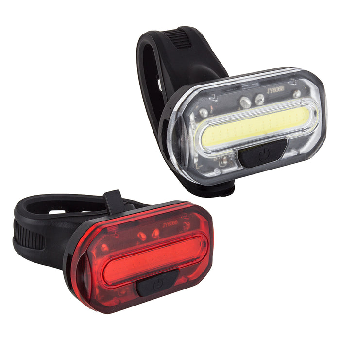 SUNLITE Ion Combo Black Mini Bicycle Safety Light Front + Rear Set