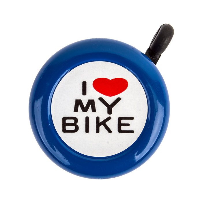 SUNLITE I Love My Bike Lever Blue Bike Bell