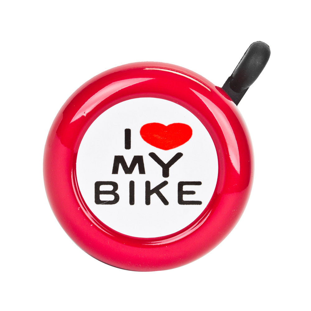 SUNLITE I Love My Bike Lever Red Bike Bell