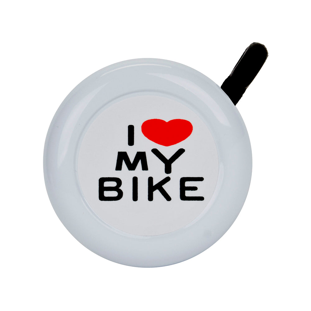 SUNLITE I Love My Bike Lever White Bike Bell