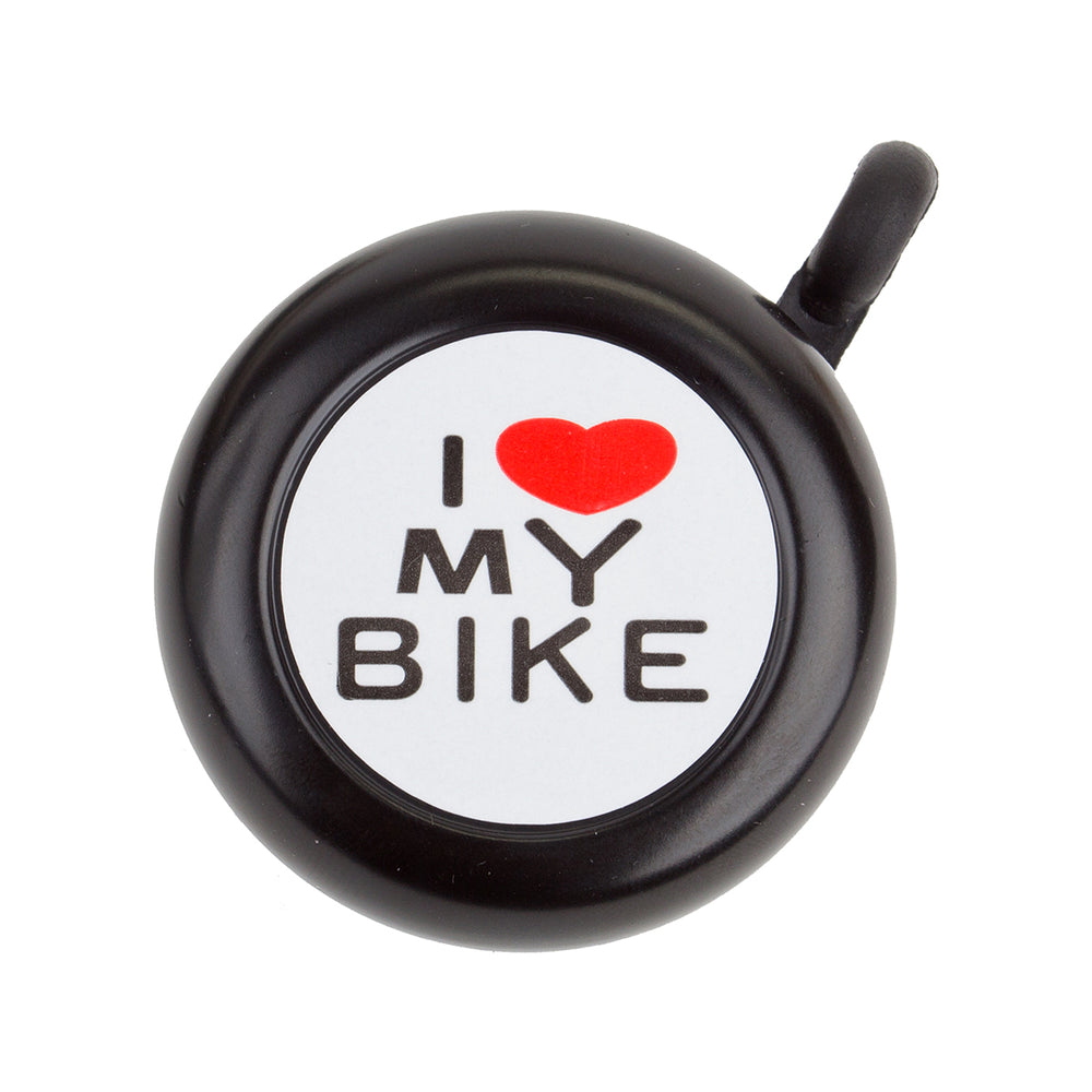 SUNLITE I Love My Bike Lever Black Bike Bell