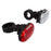 SUNLITE HL-L380/TL-L340 Black Front + Rear Bicycle Safety Light Set