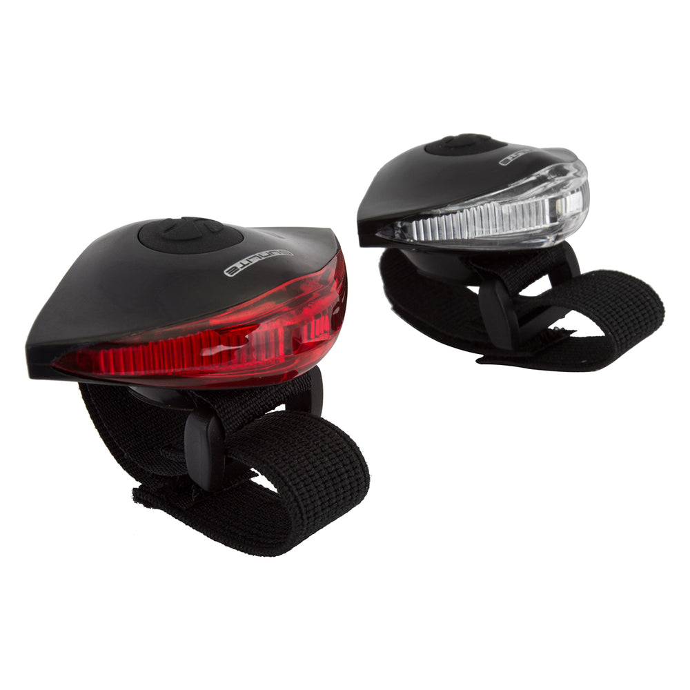 SUNLITE Griplight II Black Mini Bicycle Front + Rear Safety Light Set