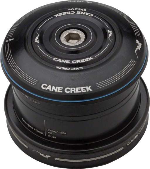 Cane Creek 40 Series ZS49/28.6 EC49/40 Headset for 49mm frames w/ tapered forks Black