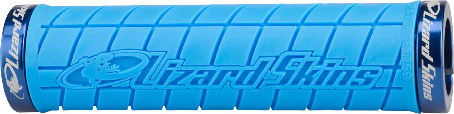 Lizard Skins Logo Lock On Grips Ice Blue