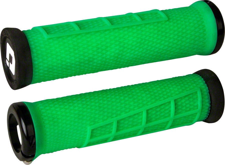 ODI Elite Flow Lock-On Grips Retro Green with Black Clamps