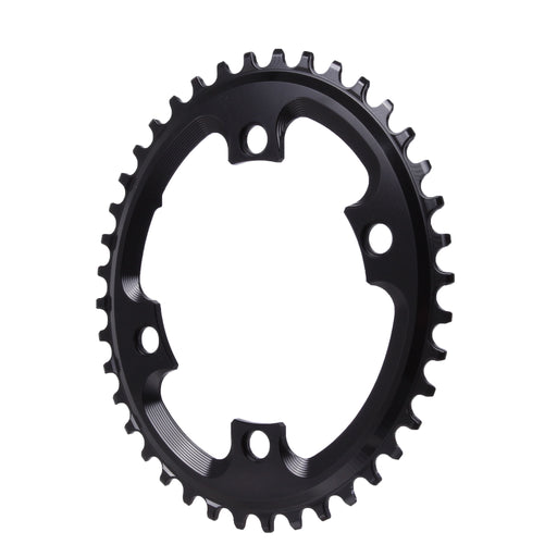 Absolute Black 110BCD asymmetric CX 1X oval chainring, 40T - black
