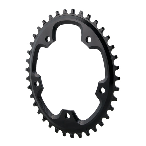 Absolute Black 5x110BCD CX 1X oval chainring, 38T - black